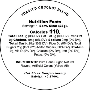 Toasted coconut cotton candy nutrition facts