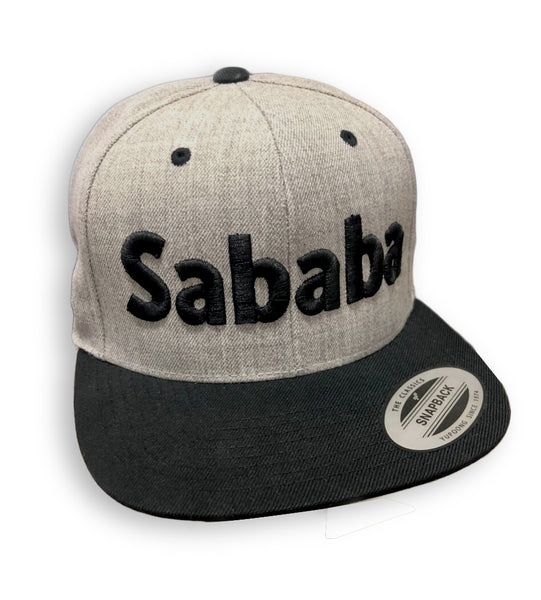 Sababa type hat with raised 3D typography by Sababa Design