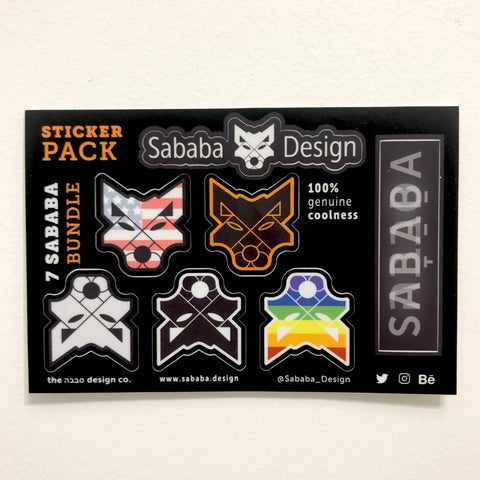 Sababa Design Really Cool Sticker Pack