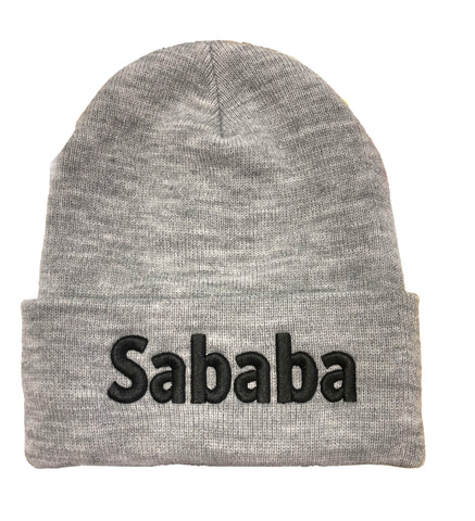 Sababa Beanie Hat Gray and Black