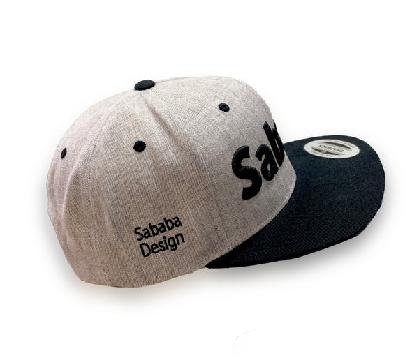 Sababa type snapback hat side view