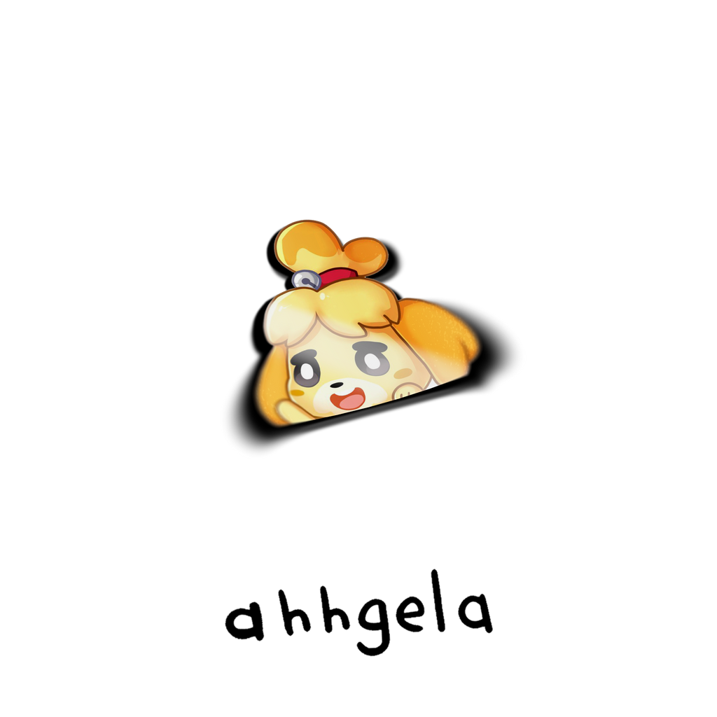 Isabelle Peeking Sticker