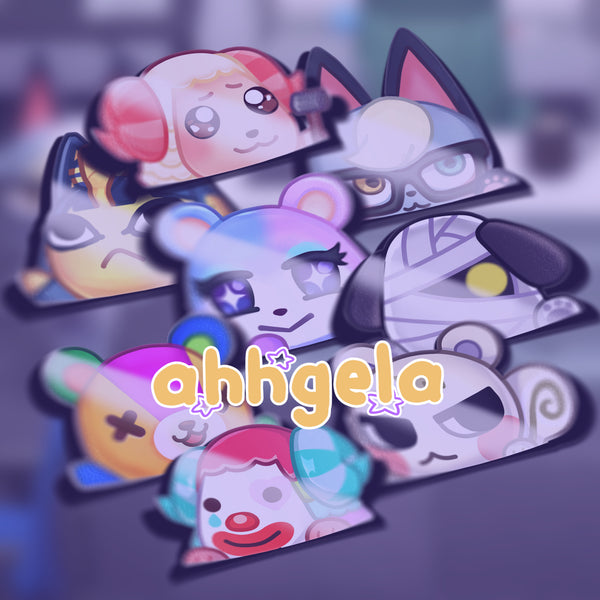 animal crossing car sticker