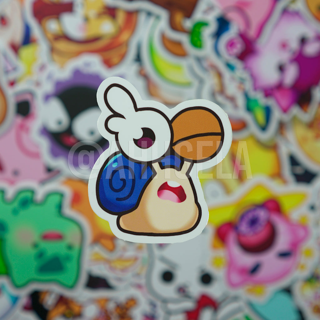Blue Snail Mini Sticker