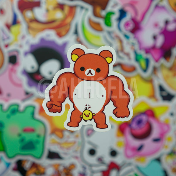 Buff Kuma Bear Mini Sticker