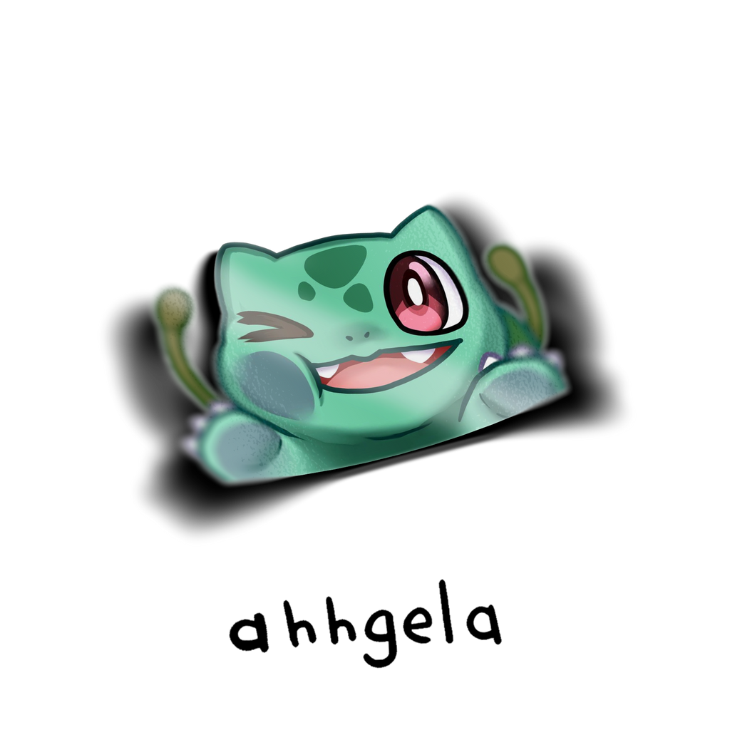 Bulbasaur smush Peeking Sticker