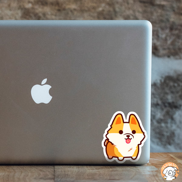 Chubby Corgi Mini Sticker