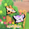 Animal Crossing Peeking Sticker