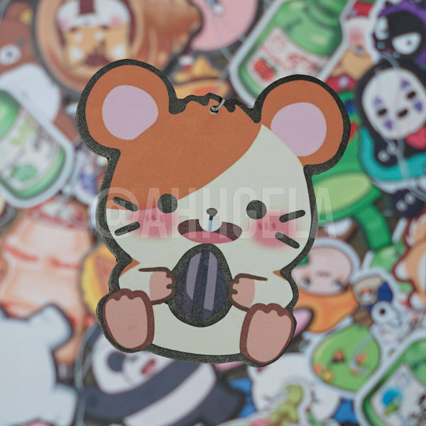 hamtaro air freshener custom car