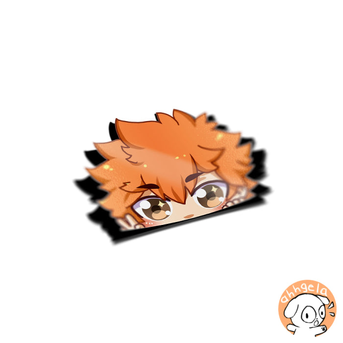 Hinata Peeking Anime Sticker