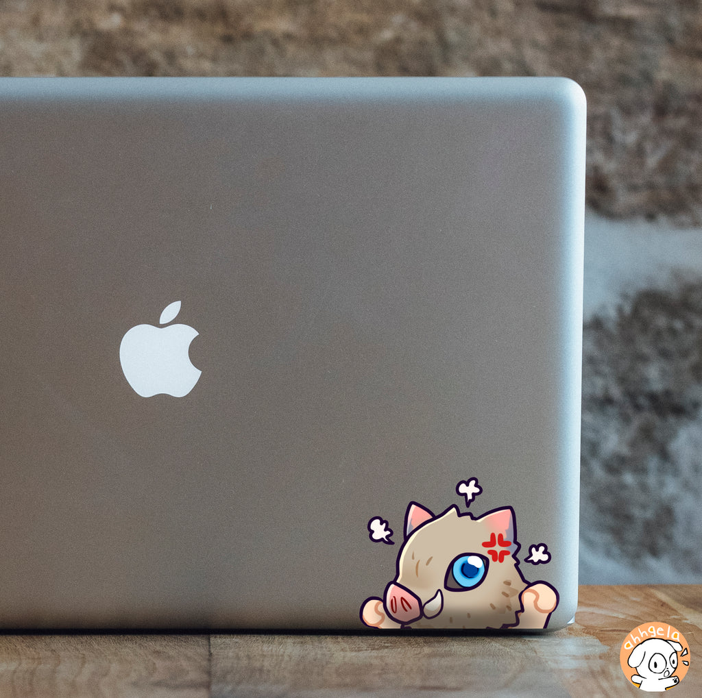 Angry Pig Mini Peeking Sticker