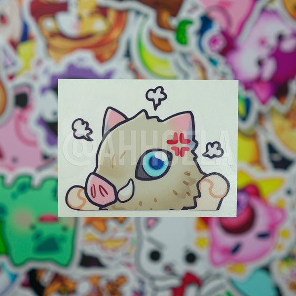 Inosuke Mini Peeking Sticker