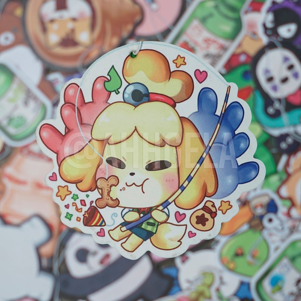 animal crossing air freshener isabelle