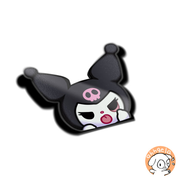 Kuromi Peeking Anime Sticker