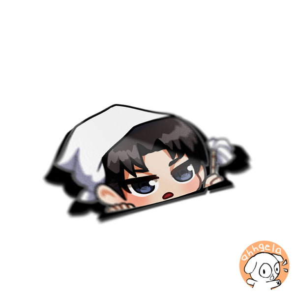 Levi Peeking Anime Sticker