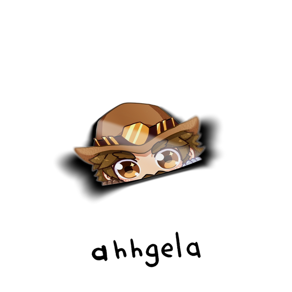 mccree overwatch peeking sticker car decal