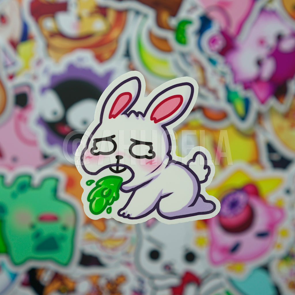 Barf Bunny Mini Sticker