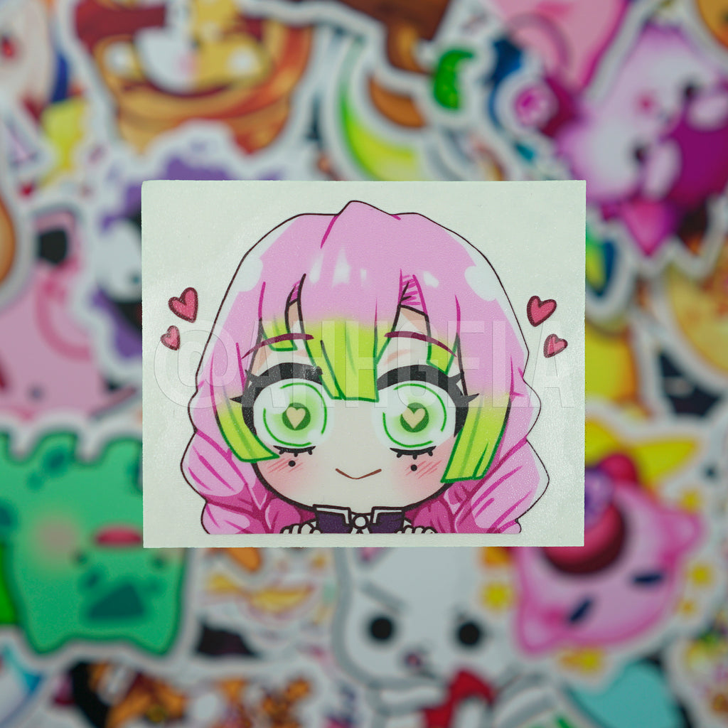 Mitsuri Kanroji Mini Peeking Sticker