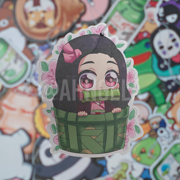 custom nezuko air freshener