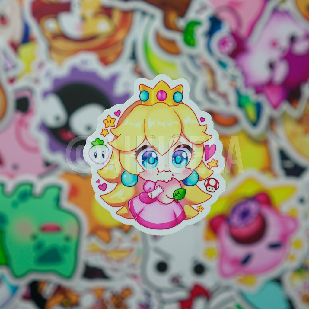 Peach Mini Sticker