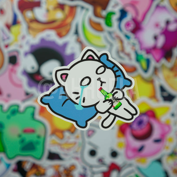 Soju Cat Mini Sticker
