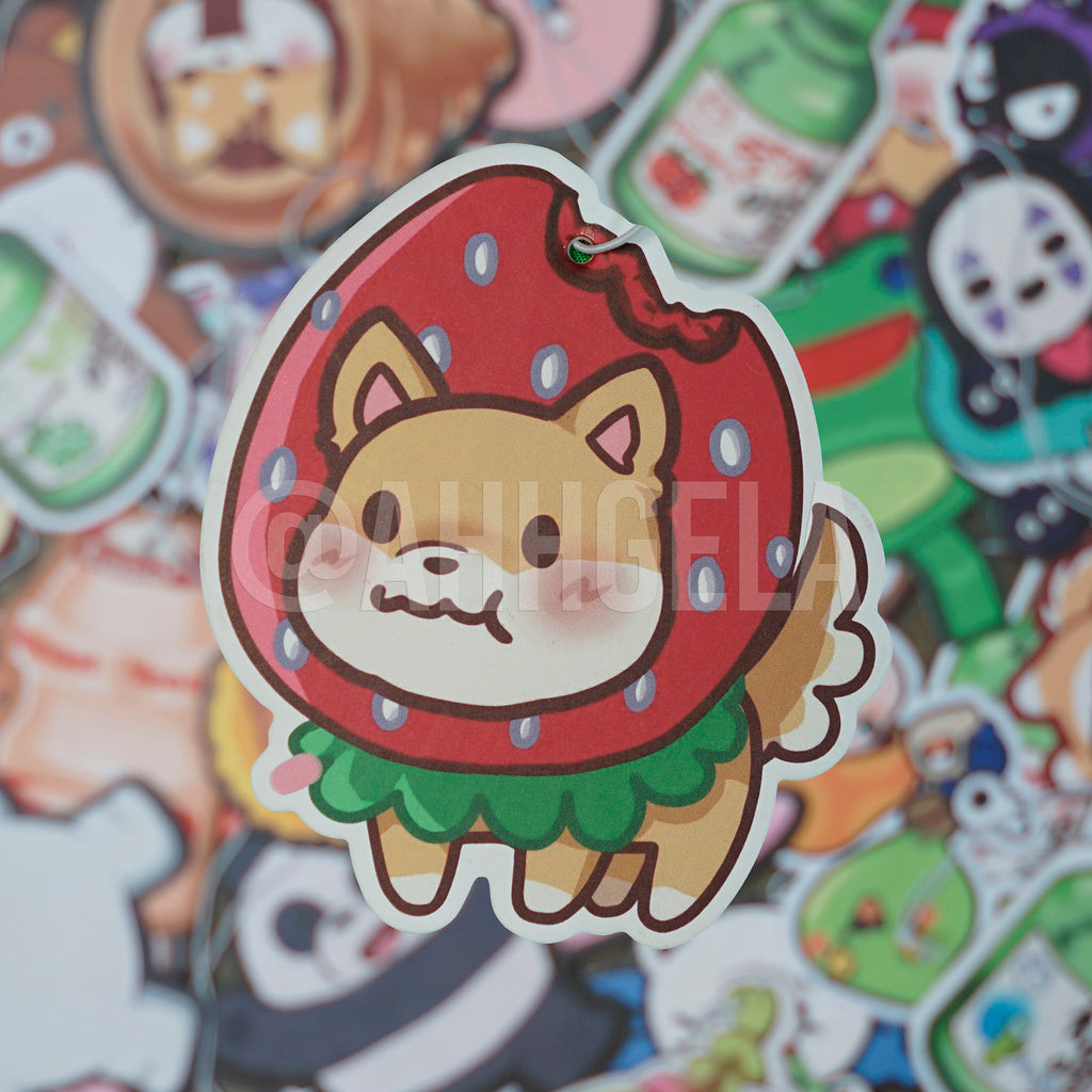 Strawberry Shiba Air Freshener