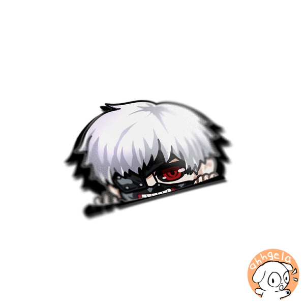 Kaneki Peeking Anime Sticker