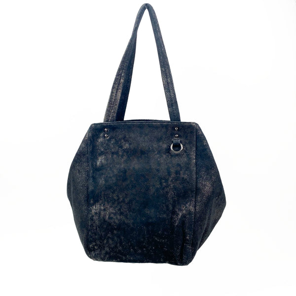 LUV TOTE - BLACK METALLIC