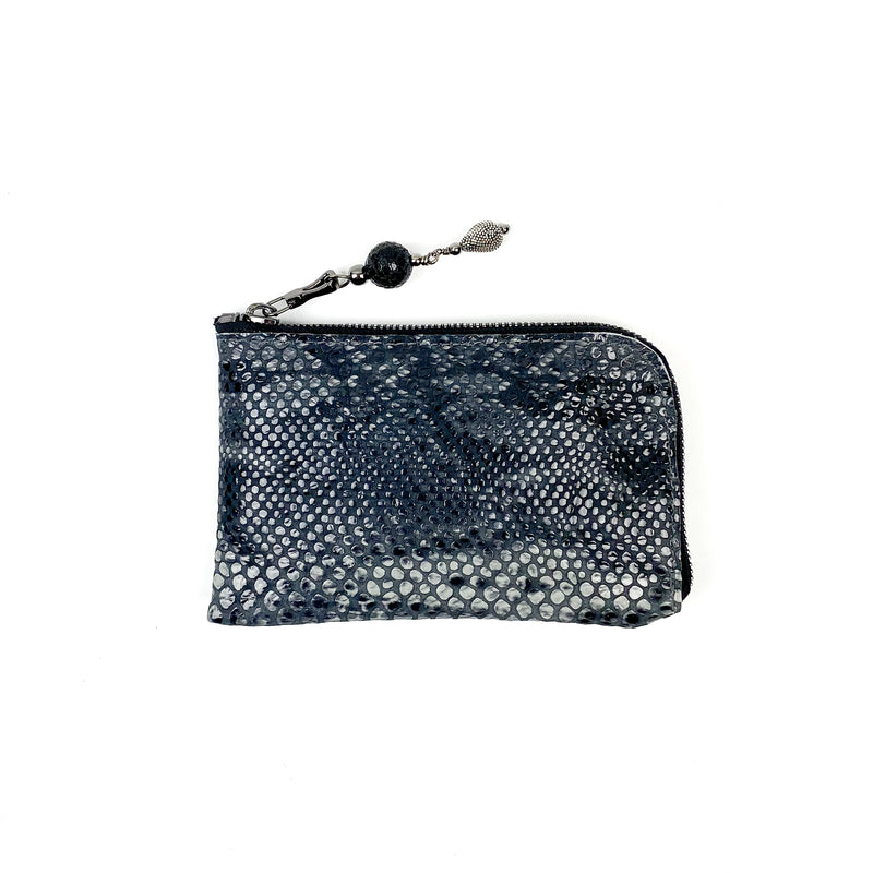 MINI WALLET - GREY SNAKE