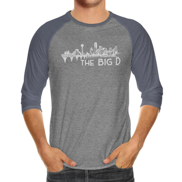 Big D Skyline| Adult Unisex Raglan