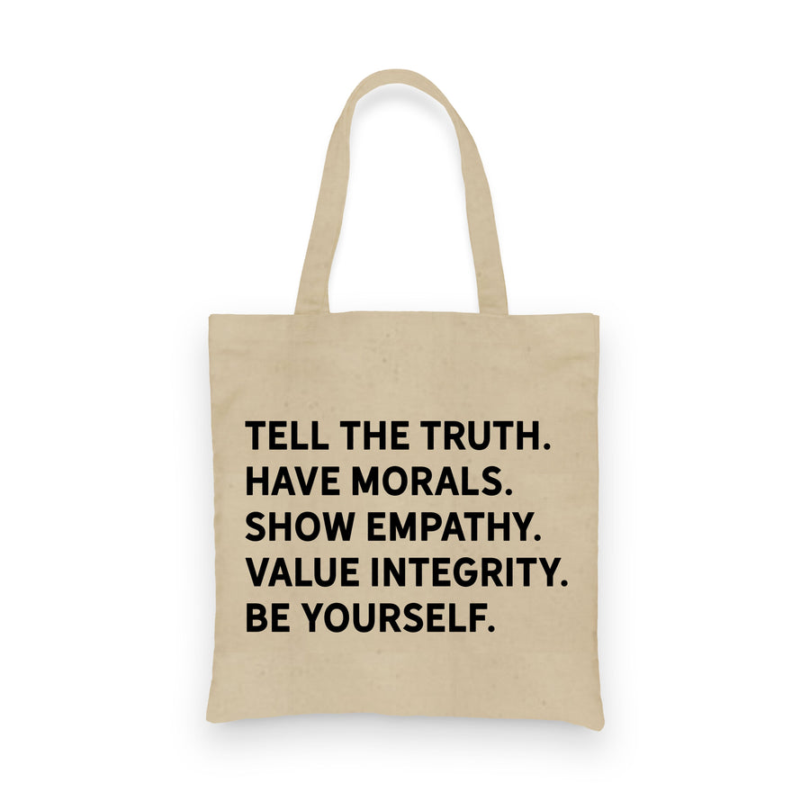 Honesty Morals Empathy Integrity | Tote