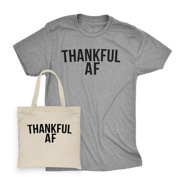 Thankful AF | Tee and Tote Combo