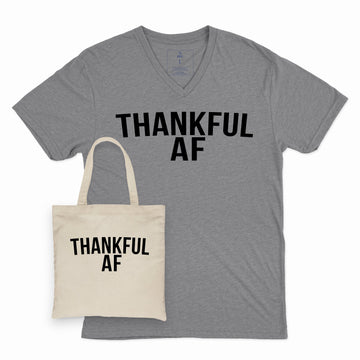 Thankful AF | Adult Vee and Tote Combo
