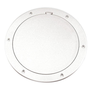 "Beckson 6"" Smooth Center Pry-Out Deck Plate - White"