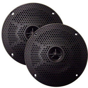 "SeaWorthy 6.5"" Round 2-Way Speakers - 100W - Black"