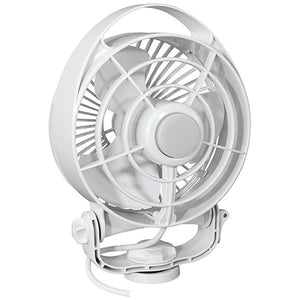 "Caframo Maestro 12V 3-Speed 6"" Marine Fan w-LED Light - White"