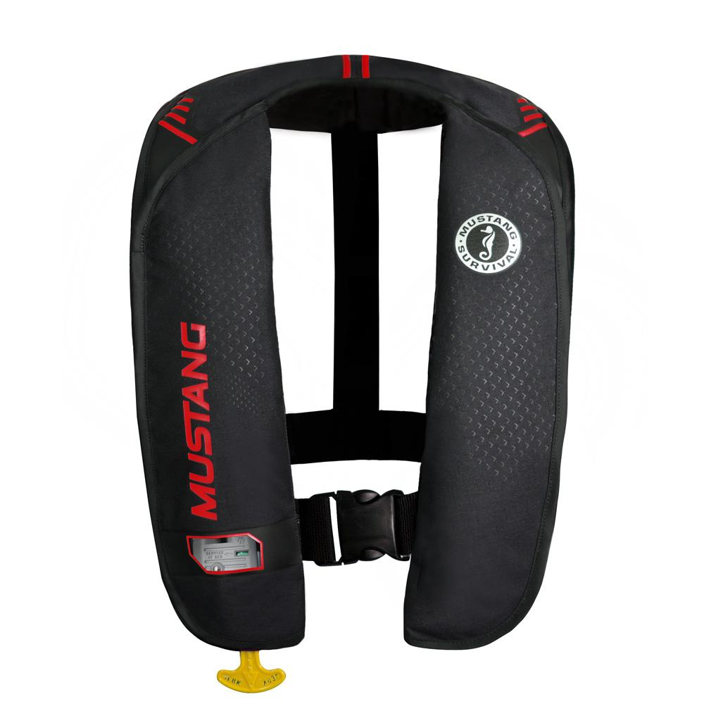 Mustang MIT 100 Inflatable Automatic PFD - Black-Red