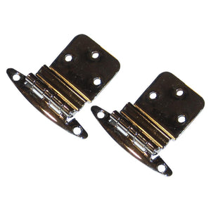 "Perko Chrome Plated Brass 3-8"" Inset Hinges"