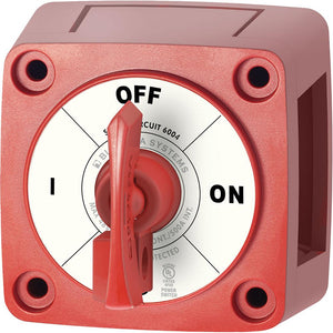 Blue Sea 6004 Single Circuit ON-OFF w-Locking Key - Red