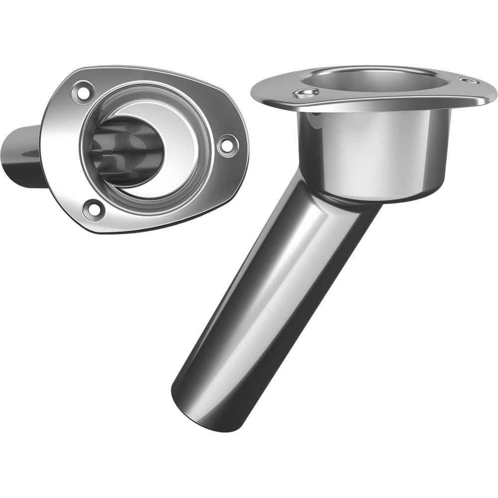 Mate Series Stainless Steel 30° Rod & Cup Holder - Open - Oval Top