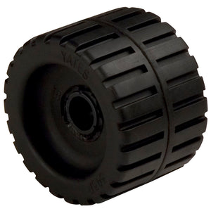 "C.E. Smith Ribbed Wobble Roller 4-3-8"" - 3-4""ID w-Bushing Black"
