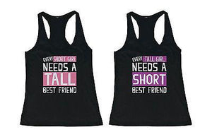 Cute Tall and Short Best Friend Tank Tops - Matching BFF Tanks