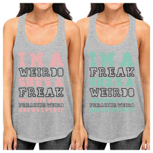 Load image into Gallery viewer, Weirdo Freak Best Friend Gift Shirts Womens Cute Graphic Tank Tops