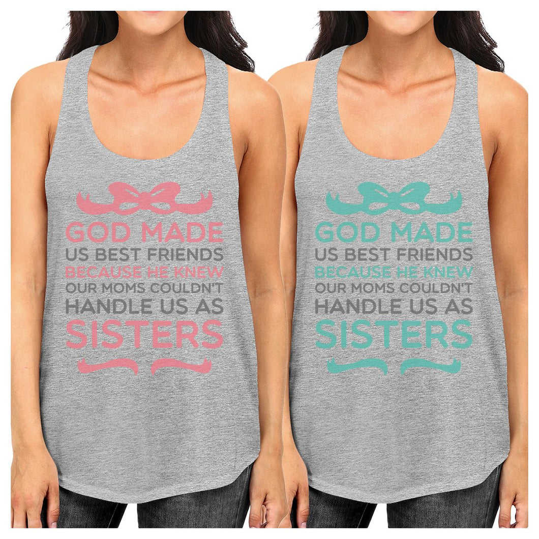 God Made Us Best Friend Gift Shirts Womens Cute Graphic Tank Tops