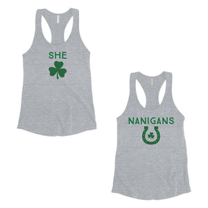 Shenanigans Womens St Patrick's Day Matching Tank Tops BFF Gifts