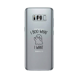 I Boo What I Want Ghost Clear Phone Case