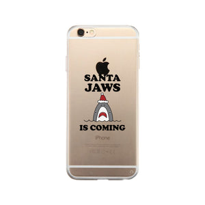 Santa Jaws Is Coming Clear Phone Case