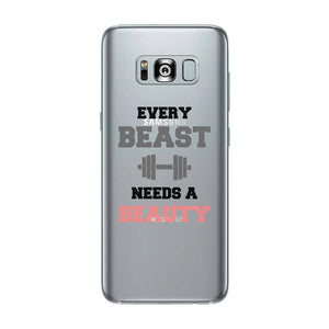 Every Beast-LEFT Clear Case Cute Workout Lover Couple Matching Gift
