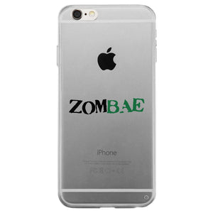 Zombae and Zombabe Clear Case Cute Matching Couple Phone Covers