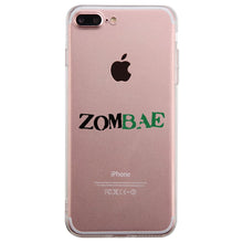 Load image into Gallery viewer, Zombae and Zombabe Clear Case Cute Matching Couple Phone Covers